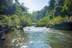 paesaggio alla cascata di heaw narok in thailandia