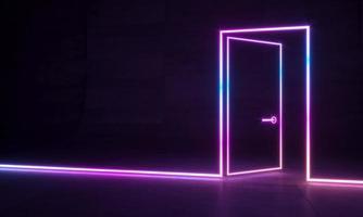 ologramma di forme astratte al neon foto