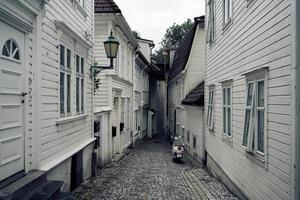 bergen, norvegia, 2020 - vicolo vuoto durante il giorno
