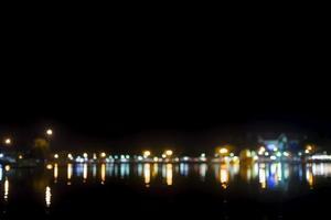 bokeh luci della città di una città foto