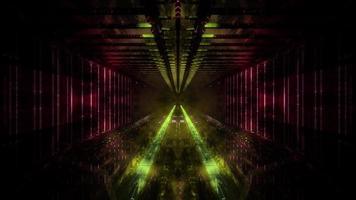 giallo scuro tunnel sogno visione 3d illustation sfondo carta da parati art design foto