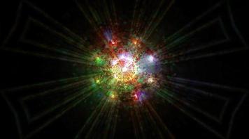 astratto scuro luci incandescenti effetti 3d illustrazione sfondo carta da parati art design foto