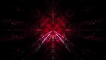 rosso scuro tunnel sogno visione 3d illustation sfondo carta da parati art design foto