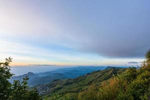 tramonto a phu tubberk in thailandia