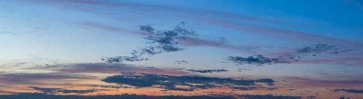 cielo e nuvole al tramonto foto