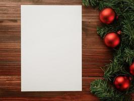 buon natale e felice anno nuovo modello di mockup di poster a4 foto