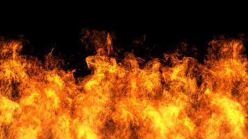 disegno del fuoco su sfondo nero