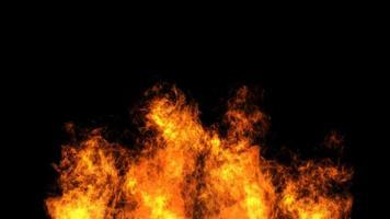 fuoco su uno sfondo nero