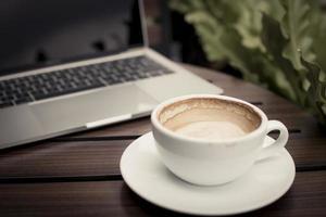 tazza di caffè vuota foto