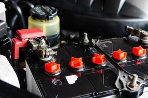 batteria per auto da vicino