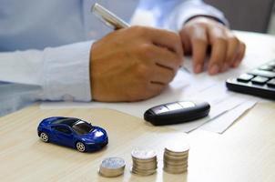 concetto di assicurazione auto foto
