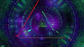 incandescente triangolo verde wireframe 3d illustrazione sfondo carta da parati design opere d'arte foto