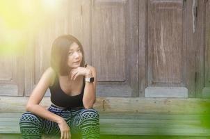 ritratto di una donna asiatica foto
