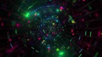 cool tunnel di vetro incandescente particelle di spazio 3d illustrazione sfondo carta da parati design opere d'arte foto