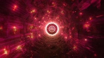 incandescente tecnico sci-fi spazio tunnel 3d illustrazione design opere d'arte sfondo carta da parati foto