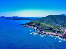 vista aerea di taiwan costa nord-orientale