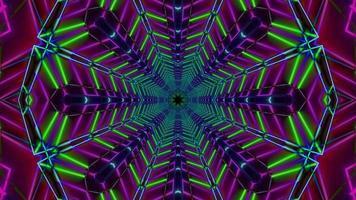 Green radar colorato neon star 3d illustrazione sfondo wallpaper design artwork foto
