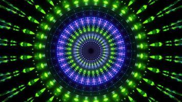 luci al neon rotanti rotonde 3d illustrazione sfondo carta da parati design illustrazione foto