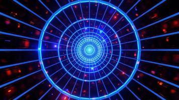 tunnel al neon incandescente con luci incandescenti 3d illlustration sfondo wallpaper design artwork foto