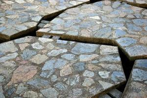 sfondo del percorso di pietra