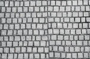 vecchia pavimentazione in ciottoli foto