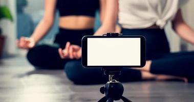 schermata vuota dello smartphone foto
