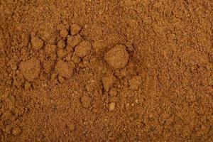 vista dall'alto di cannella in polvere foto