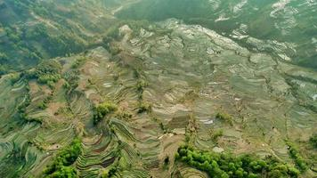 vista aerea dello Yunnan, Cina