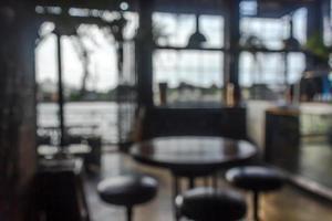 scena sfocata di caffè o ristorante per lo sfondo foto