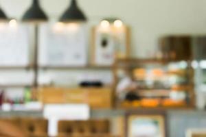 scena sfocata del caffè per lo sfondo foto