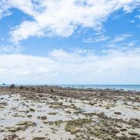 spiaggia rocciosa in riva al mare in thailandia