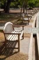 panchine nel parco