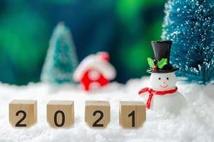 Blocchi 2021 con scena natalizia