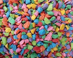 mucchio di roccia colorata foto