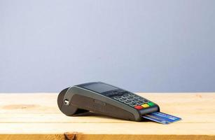 macchina per carte di credito foto