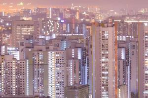 edifici di singapore di notte