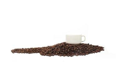 tazza e chicchi di caffè foto