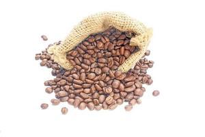 chicchi di caffè in un sacchetto