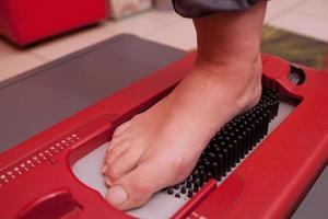 dispositivo di scansione del piede foto