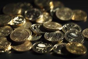 monete di rubli russi foto
