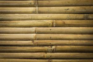 primo piano del muro di bambù giallo per texture o sfondo