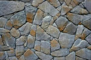 muro di pietra naturale foto
