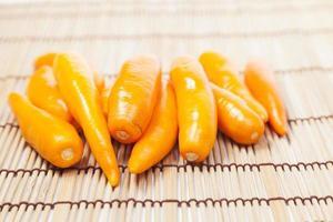 peperoni dolci sul tavolo