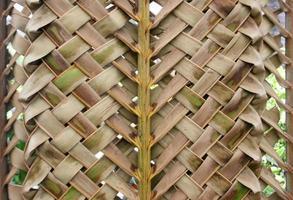 sfondo trama di bambù intrecciato foto