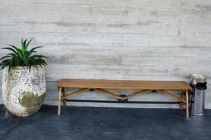 panchina con una pianta foto