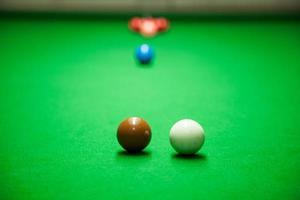 palle da biliardo sul tavolo