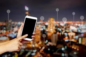 connessione e concetto di tecnologia foto