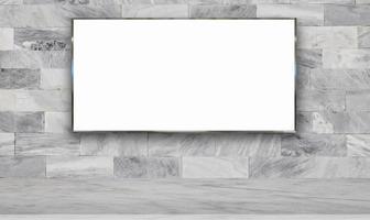 tabellone per le affissioni sul fondo della parete foto