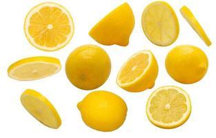 gruppo di limoni a fette foto