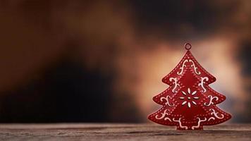 priorità bassa della decorazione dell'albero di Natale foto